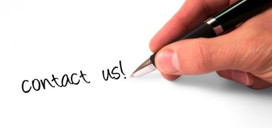 Contact Us written on paper